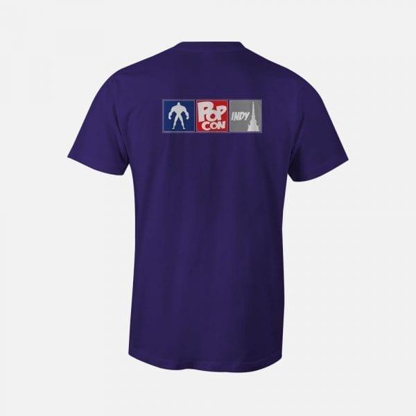 Purple PopCon Gaming Icon Shirt (PopCon Logo Back)