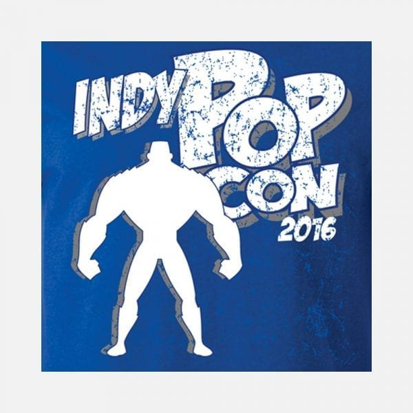 2016 Blue PopCon Tee with Strongman Icon
