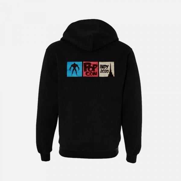 2020 Black PopCon Zip Hoodie (Back View)