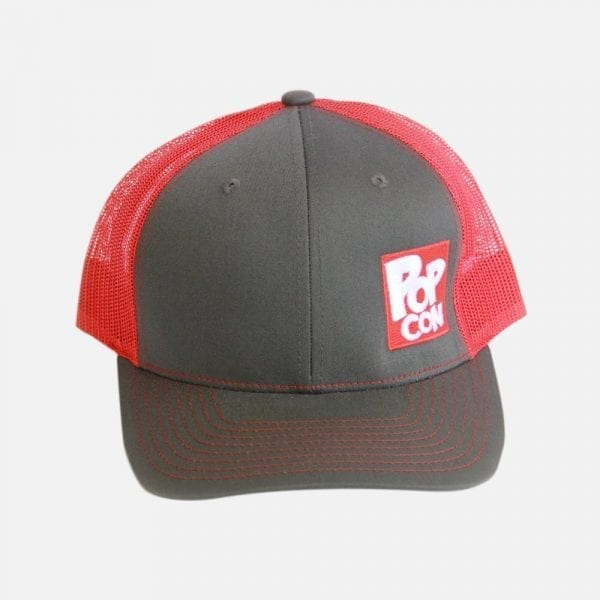 PopCon Grey/Red Hat