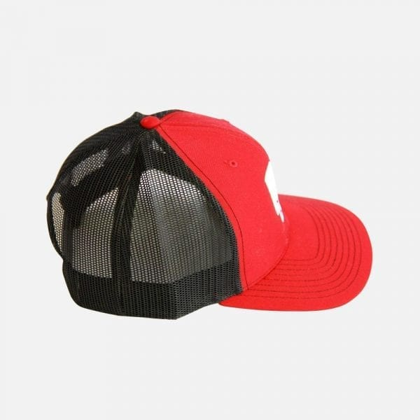 PopCon Red and Black Hat (Side View)