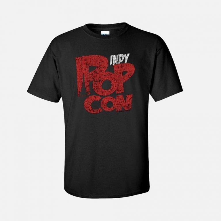 Rustic Red PopCon logo on Black Tee