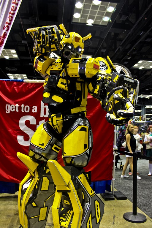 Fan Cosplay as Bumblebee from Transformers