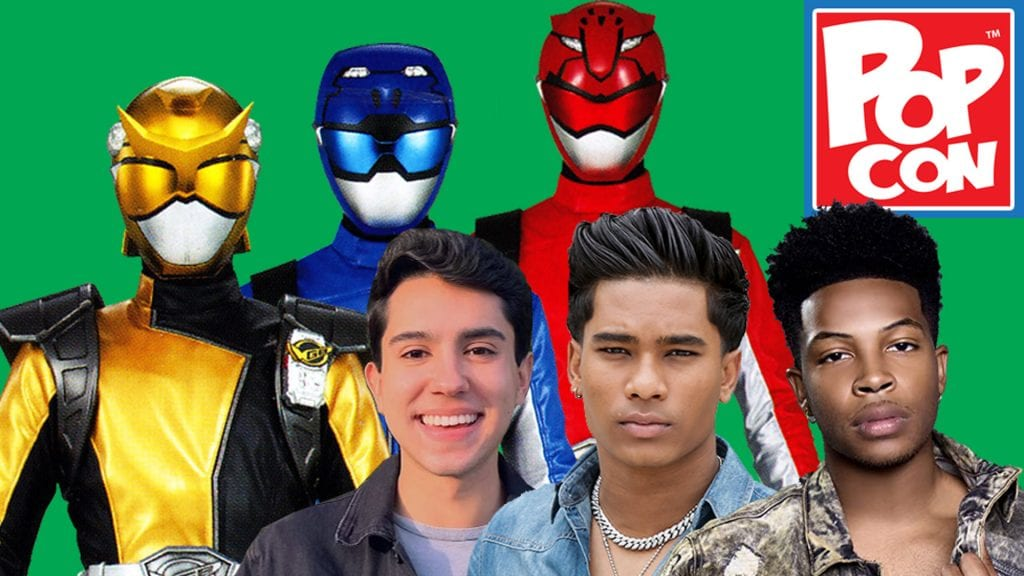 Red, Blue and Gold Power Ranger Beast Morphers